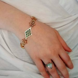 Jewelry - Sterling & Bronze Emerald Bracelet